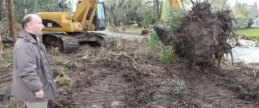 Azul: Comenzaron las obras de corto plazo tendientes a prevenir la problemática de las inundaciones
