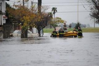 La presidenta anuncia obras por las inundaciones