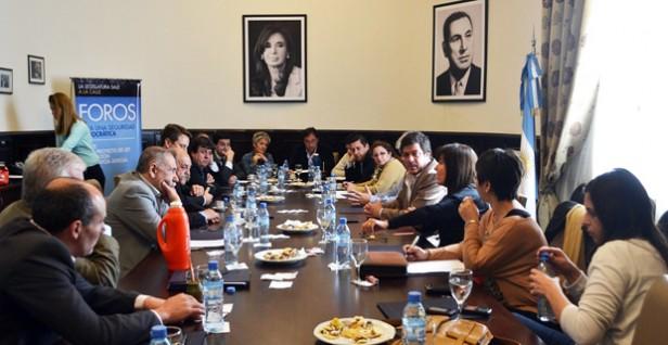 General La Madrid: Pellita se reunió con el  Vicegobernador Gabriel Mariotto