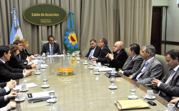 Reunión de Scioli con intendentes