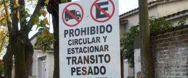 Operativos de control por restricción de circulación y estacionamiento de camiones