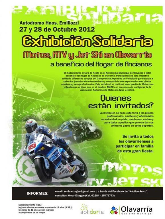 Motos, ATV y Jet Ski en Olavarría a beneficio del Hogar de Ancianos