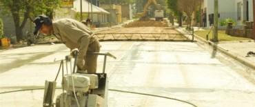 El Gobierno Municipal avanza con la pavimentación con hormigón en Sierras Bayas