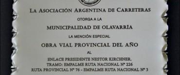 La Asociación Argentina de Carreteras reconoció la obra del Enlace Ruta 3 y 226