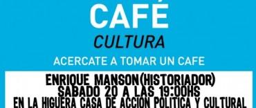 Café Cultura Olavarría junto a Enrique Manson
