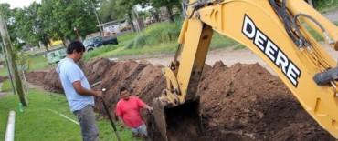 Azul: continúan a buen ritmo las obras de agua y cloacas en la ciudad