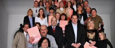 El Gobierno Municipal realizó una nueva entrega de actas de Bien de Familia Ley 14.394