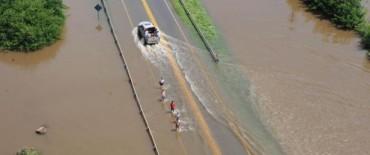 Varias rutas provinciales afectadas por la intensa lluvia