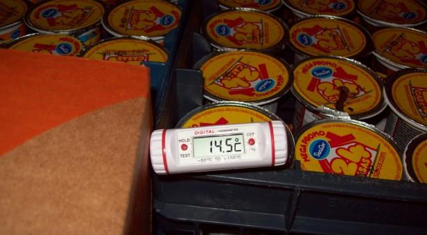 El Gobierno Municipal realizó un decomiso de más de 1000 kilos de lácteos por corte de cadena de frío