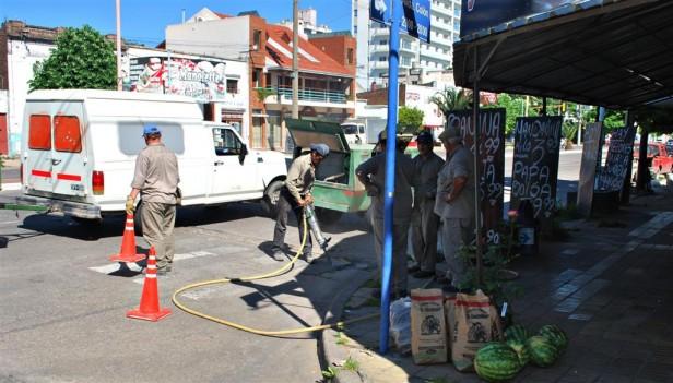 El Gobierno Municipal repara losas de hormigón