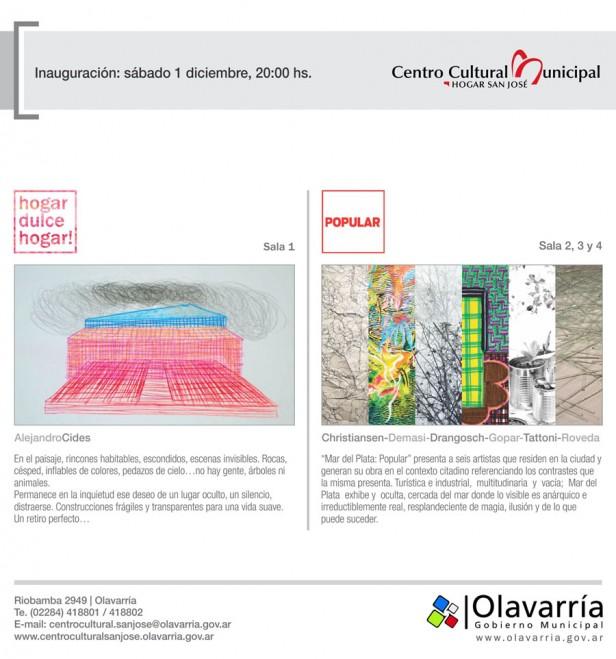 """Se inauguran dos muestras en el Centro Cultural Municipal """"Hogar San José"""""""