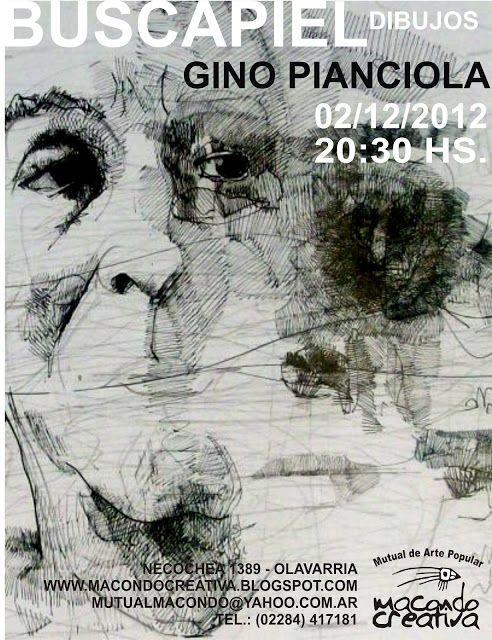 Muestra de Dibujos de Gino Pianciola