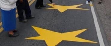 """Se pintaron nuevas """"Estrellas Amarillas"""""""