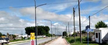 Inicio de obras de iluminación en Avenida Colón entre Pellegrini y La Rioja