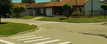 Demarcan sendas peatonales en establecimientos educativos