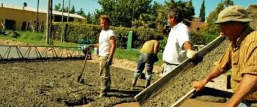El Gobierno Municipal avanza con los trabajos de hormigonado de la autopista Luciano Fortabat