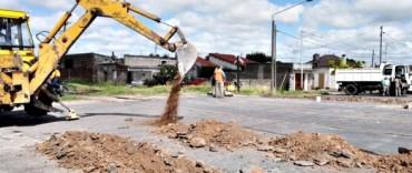 El Gobierno Municipal inició los trabajos de reparación del cruce ferroviario de la avenida Pueyrredón