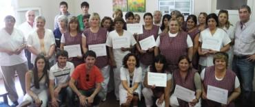 Se entregaron certificados de capacitación al personal del Complejo San Vicente de Paul