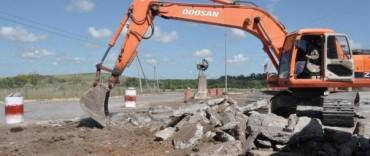 El Gobierno Municipal inició los trabajos para la construcción de la nueva rotonda de acceso a Sierras Bayas