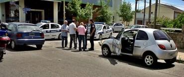 Accidente sin heridos en Pueblo Nuevo