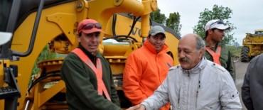 General La Madrid: se Inició de obra de repavimentación tramo La Madrid-Laprida