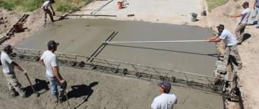 Azul: avanzan las obras de pavimentación en el sector del Lago Güemes y Villa Piazza