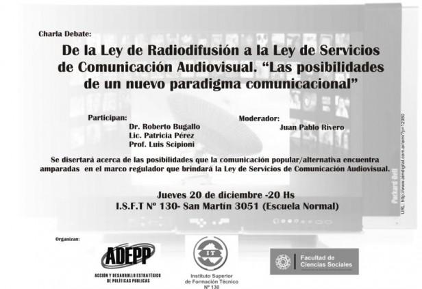 Charla debate sobre la Ley de Servicios de Comunicación Audiovisual