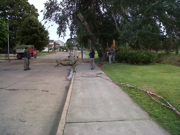 Continúan los trabajos para normalizar la ciudad luego de la tormenta