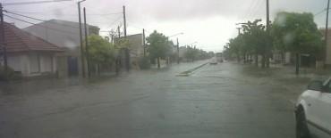 Lluvia: Cayeron más de 50 mm en algo más de una hora