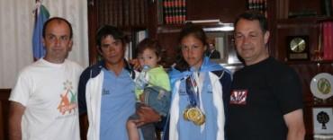 Alvear: la atleta Cecilia Teruzzi fue recibida por el intendente Cellillo