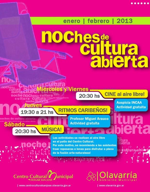 El cine nacional inauguró la primera Noche de Cultura Abierta