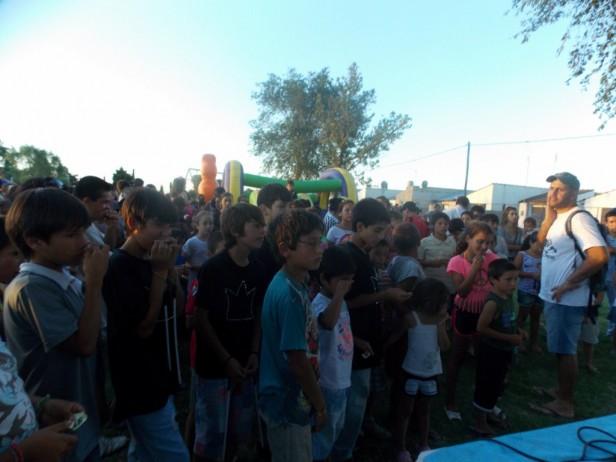 Festejo del día de Reyes en el barrio Trabajadores