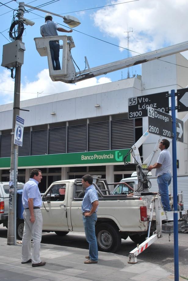 Más protección para los Olavarriense: se colocaron cámaras en el sector financiero y comercial de la ciudad