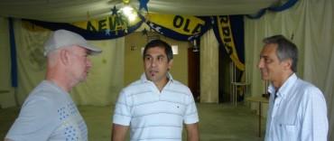 El Intendente visitó la sede de la Peña de Boca Juniors de Olavarría