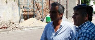 Eseverri supervisó la tercera etapa de arreglos en el muro del Cementerio Municipal