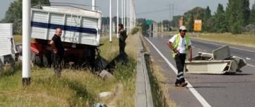 Choque de camiones en Cañuelas el miércoles, uno de esos camiones era de Olavarría.