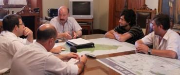 Azul: encuentro del intendente Inza con dirigentes velezanos