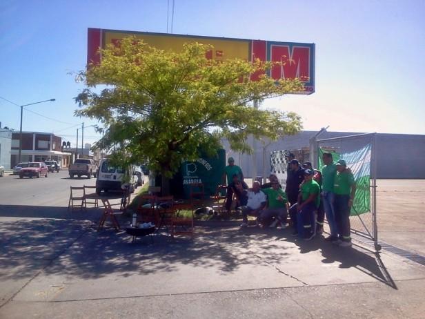 El sindicato de choferes protesta en Maxiconsumo
