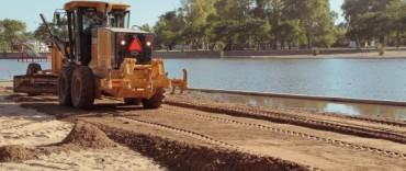 Azul: arena para mejorar las playas del Balneario Municipal