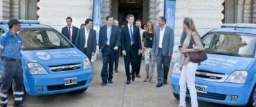 Randazzo entregó cuatro patrullas de seguridad vial a la municipalidad de La Plata