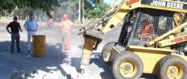 Comenzó la construcción de mesetas peatonales