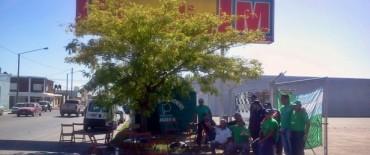 Sigue la protesta del Sindicato de Choferes de camiones frente a supermercado mayorista