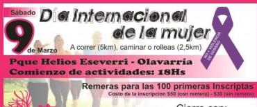 La  carrera en adhesión el Día de la Mujer se hará el sábado 9 de marzo