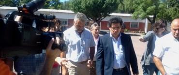 El Ministro de Infraestructura de la provincia, en Loma Negra
