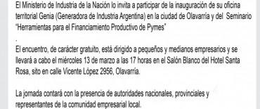 Presentan una oficina del Ministerio de Industria para Olavarría