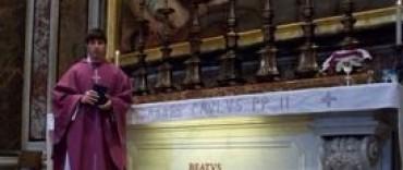 El Capellán de la Unidad N° 38 presente en la asunción del Papa Francisco