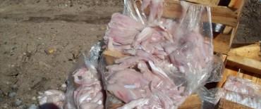 El Gobierno Municipal decomisó y destruyó más de 600 kilos de filet de merluza en mal estado