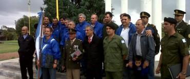 No hubo acto oficial, pero se homenajearon a los caídos en Malvinas