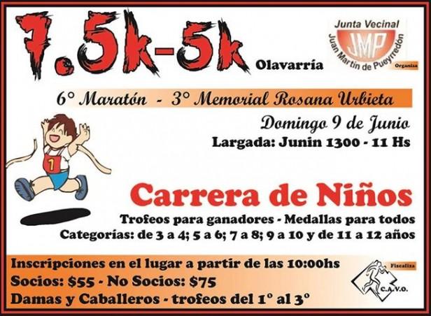 6° Maratón y 3er.