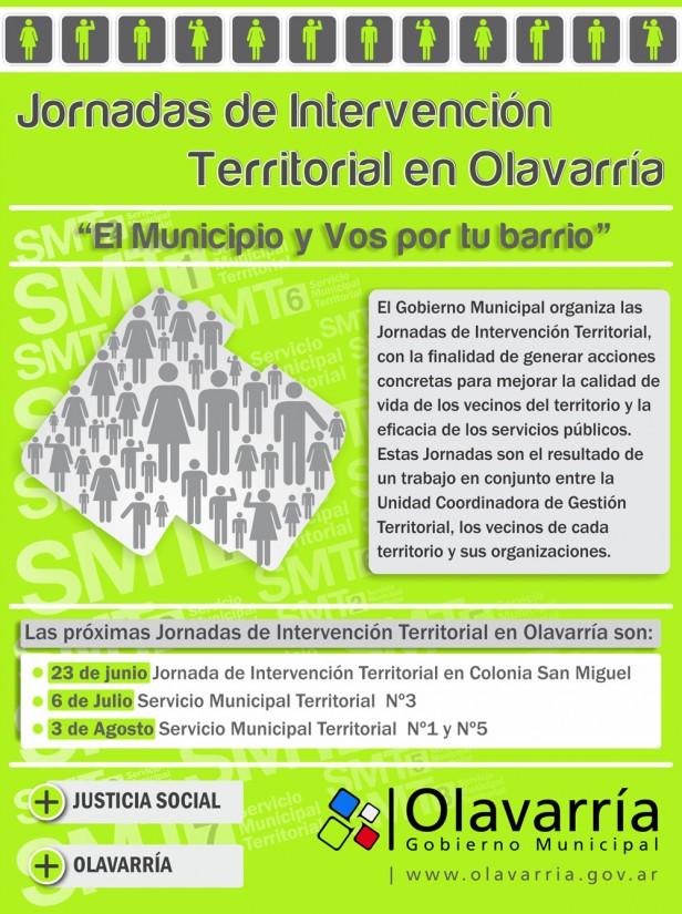 Las Jornadas de Intervención Territorial como espacios para aunar esfuerzos